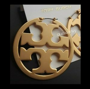 FIRM! New! Tory Burch Miller Hoop Earrings!